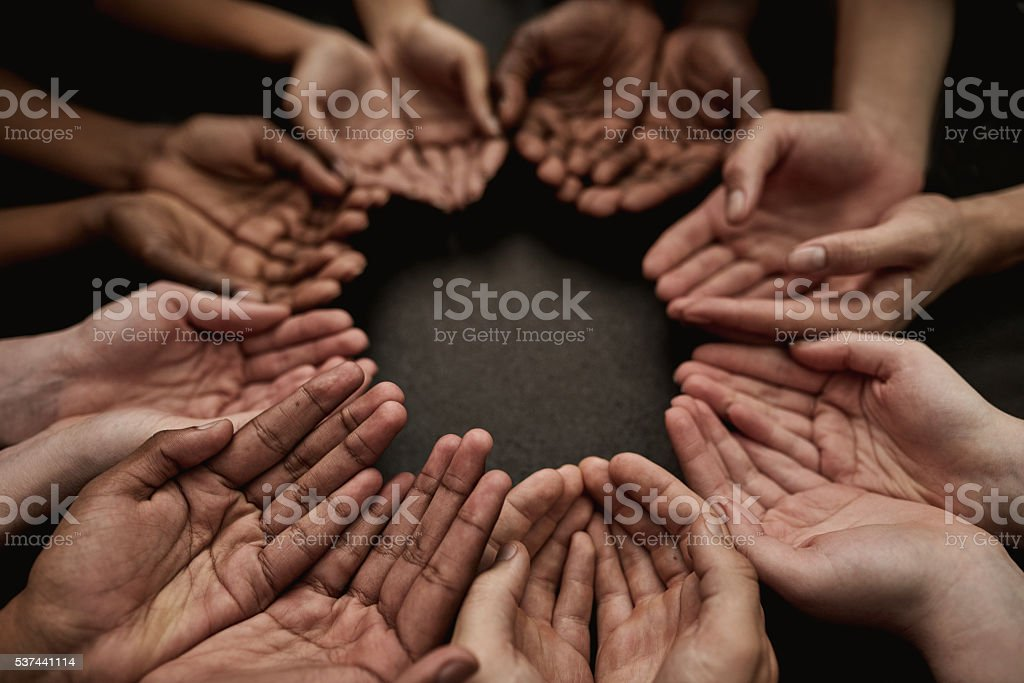 Asking for your help stock photo