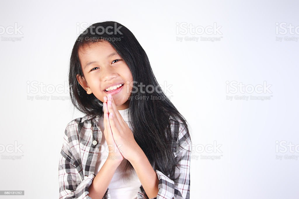 Asking Forgiveness Gesture stock photo