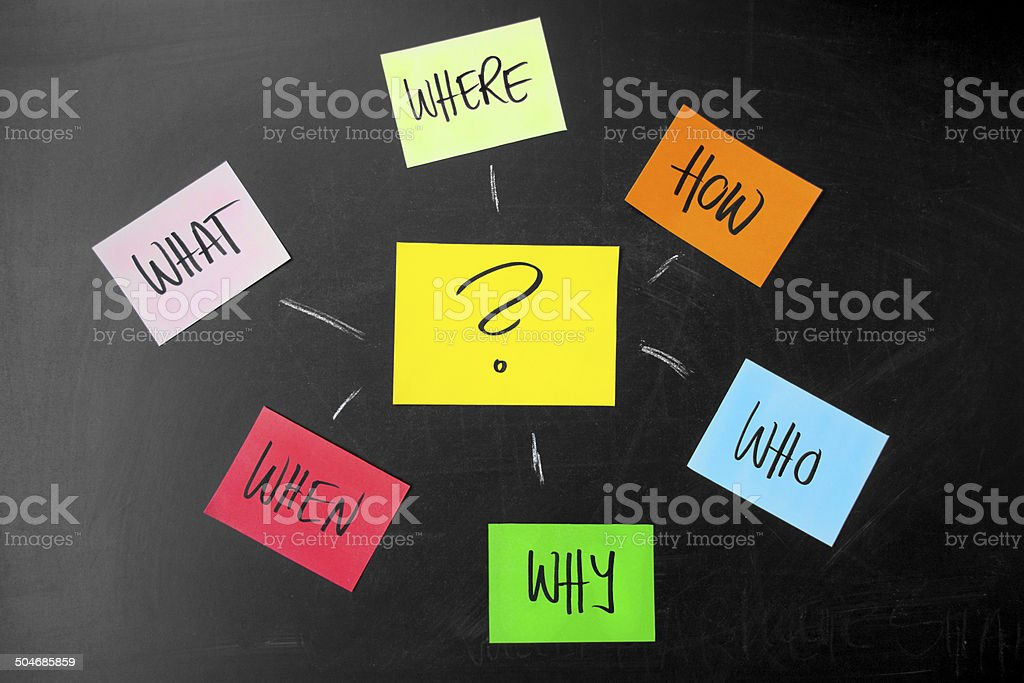 Asking questions stock photo