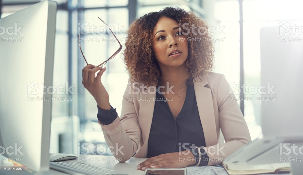Asking the big questions stock photo