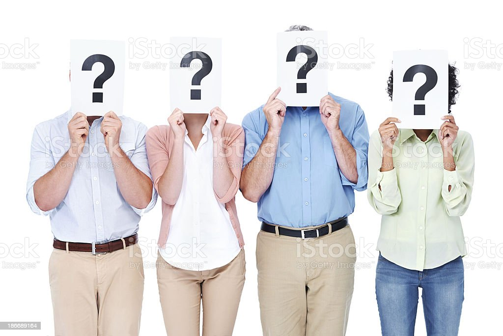 Asking the hard questions - Business royalty-free stock photo