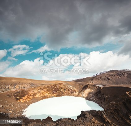 istock Askja Caldera With Lake Viti 1176959044