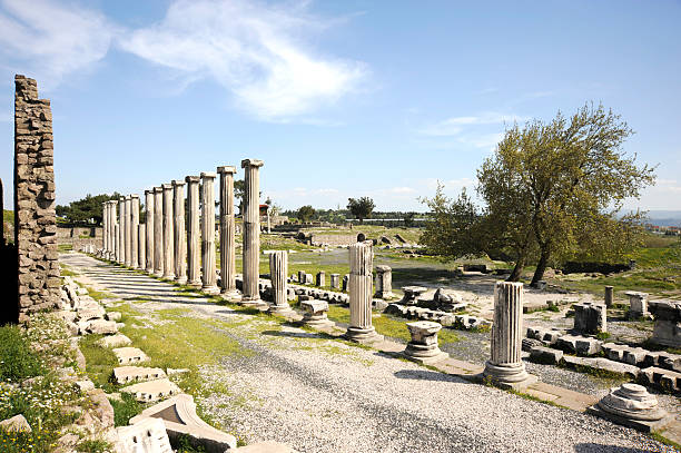 Asklepion, Pergamon stock photo