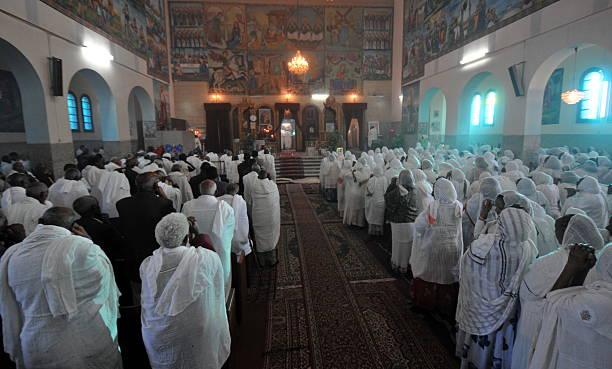 asmara, eritrea, ortodox church - eritrea stock photos and pictures