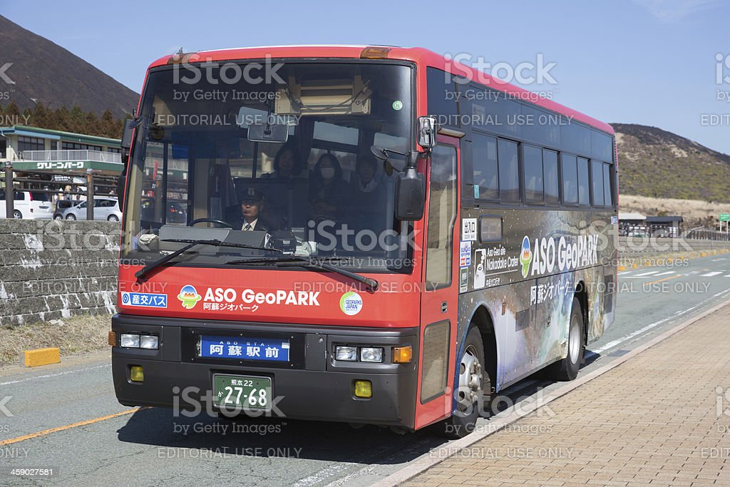Aso Geopark Bus royalty-free stock photo