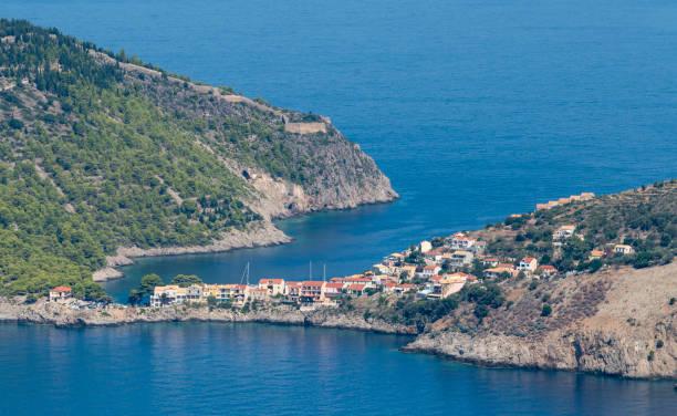 Asos village,  Kefalonia stock photo