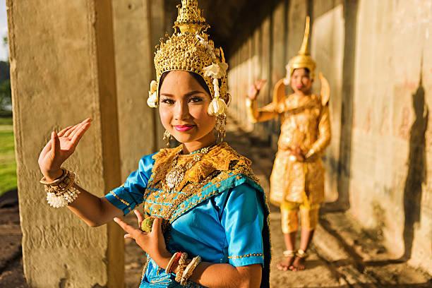 Aspara Tänzer in Angkor Wat – Foto