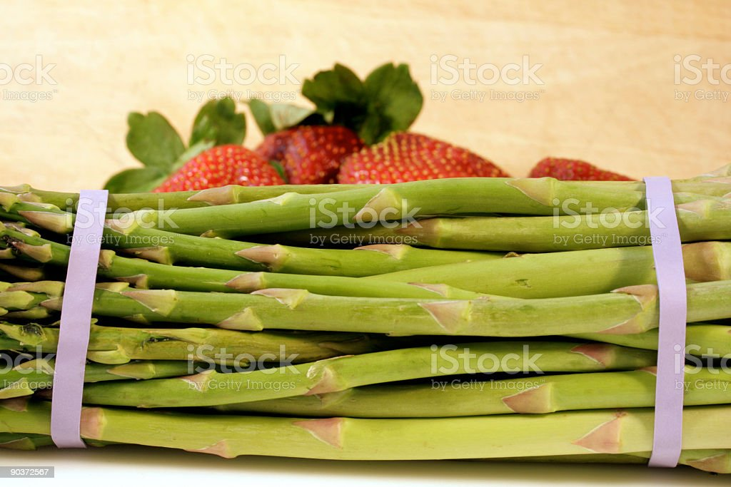 Asparagus and fruit royalty-free stock photo