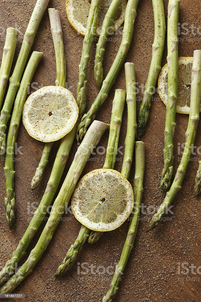 Asparagus and Lemon royalty-free stock photo