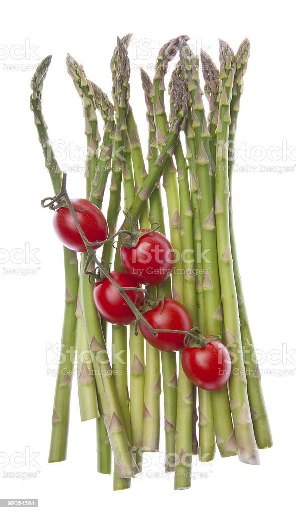 Asparagus and Strawberry Tomatoes royalty-free stock photo