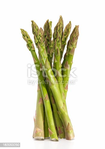 bunch of Asparagus on white