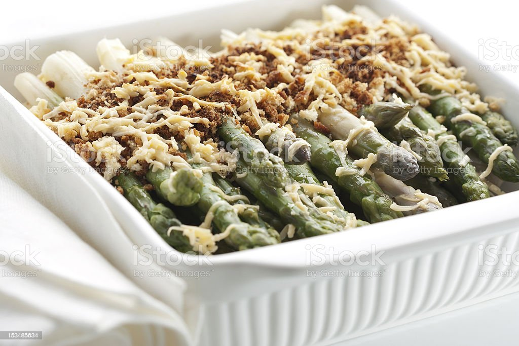 Asparagus gratin royalty-free stock photo