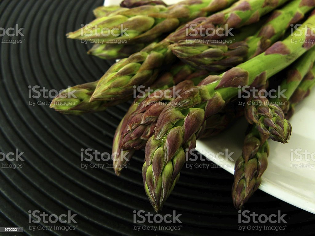 Asparagus in black royalty-free stock photo