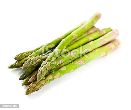 Asparagus isolated on white.