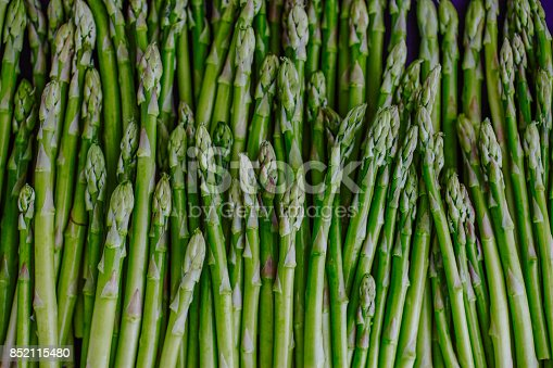 Directly above view of baby asparaguses