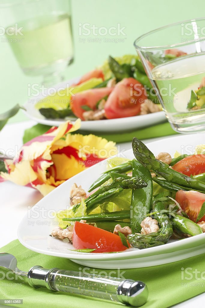Asparagus salad royalty-free stock photo