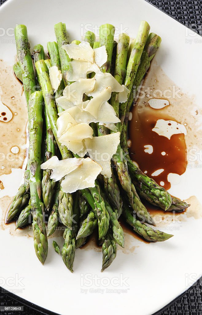 Asparagus Side Dish royalty-free stock photo