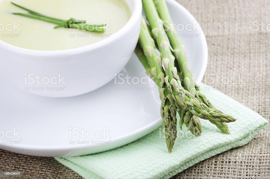 Asparagus Soup, Healthy Vegan Food royalty-free stock photo