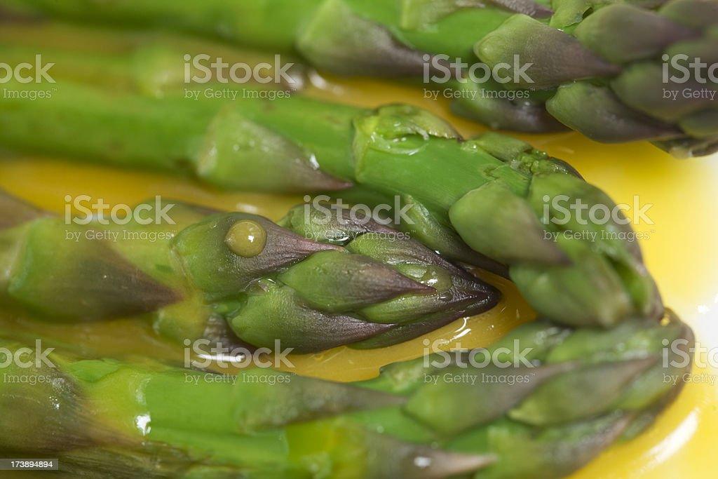 asparagus with egg stock photo