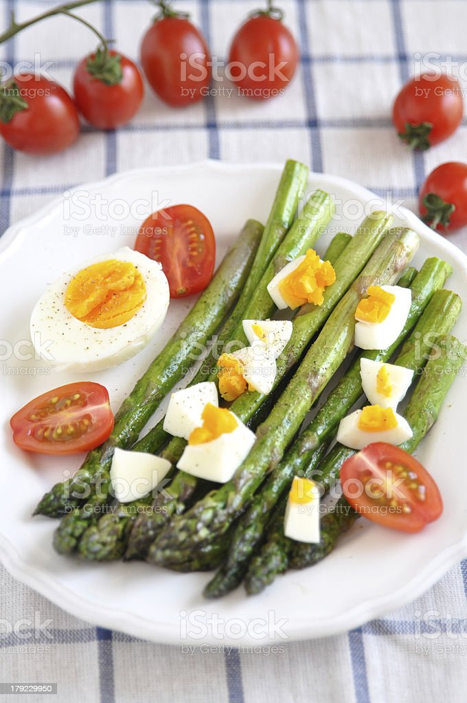 asparagus with egg royalty-free stock photo
