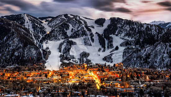Looking at Aspen Colorado during the winter season