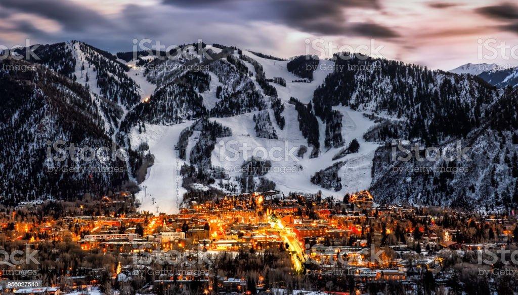 Aspen colorado overlook stock photo