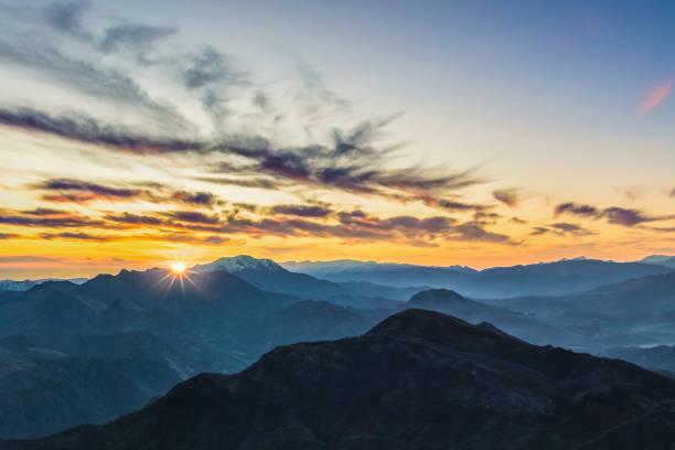 Aspen, Colorado rocky mountains at sunrise