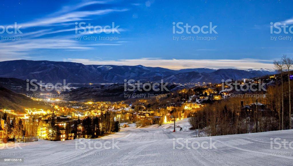 Aspen Colorado skyline stock photo