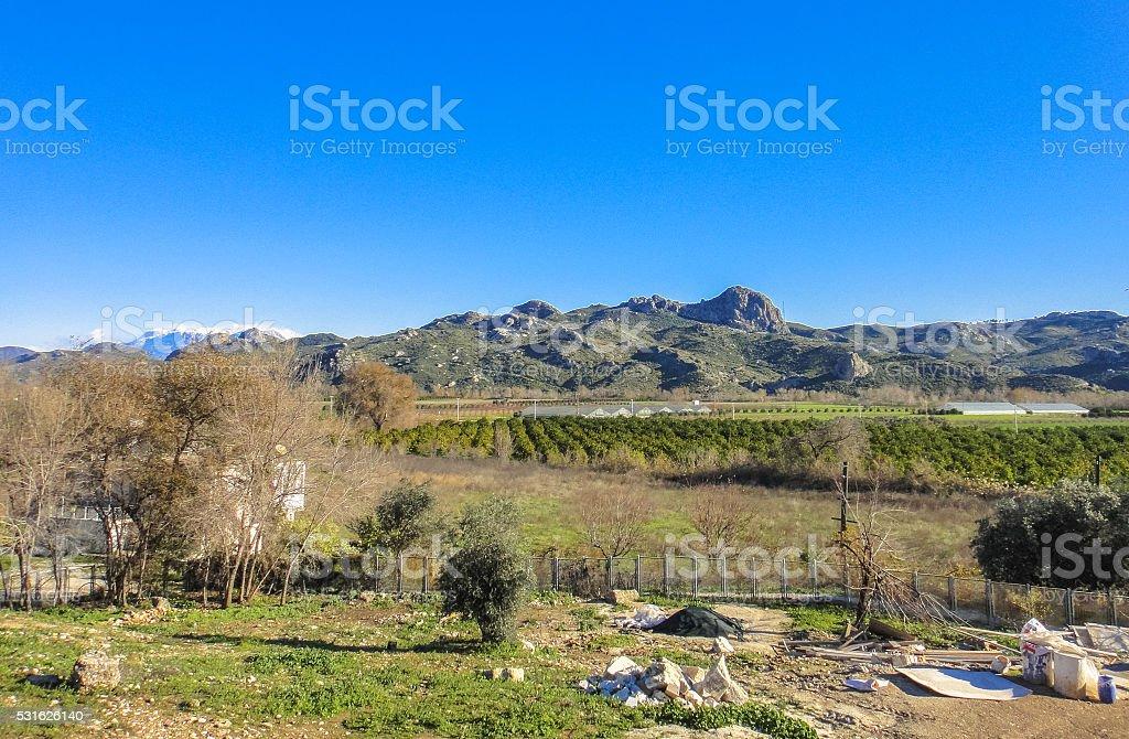 Aspendos - ancient Greco-Roman city in Antalya province of Turkey stock photo