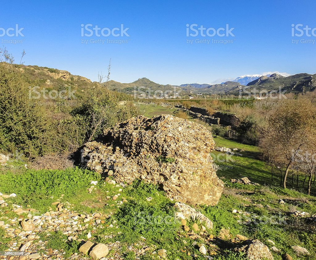 Aspendos - ancient Greco-Roman city in Antalya province of Turkey stock photo