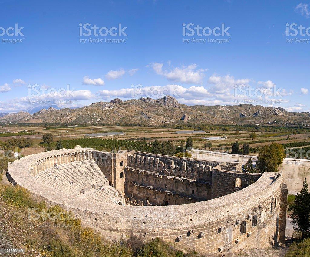 Aspendos Roman Theatre, Turkey stok fotoğrafı
