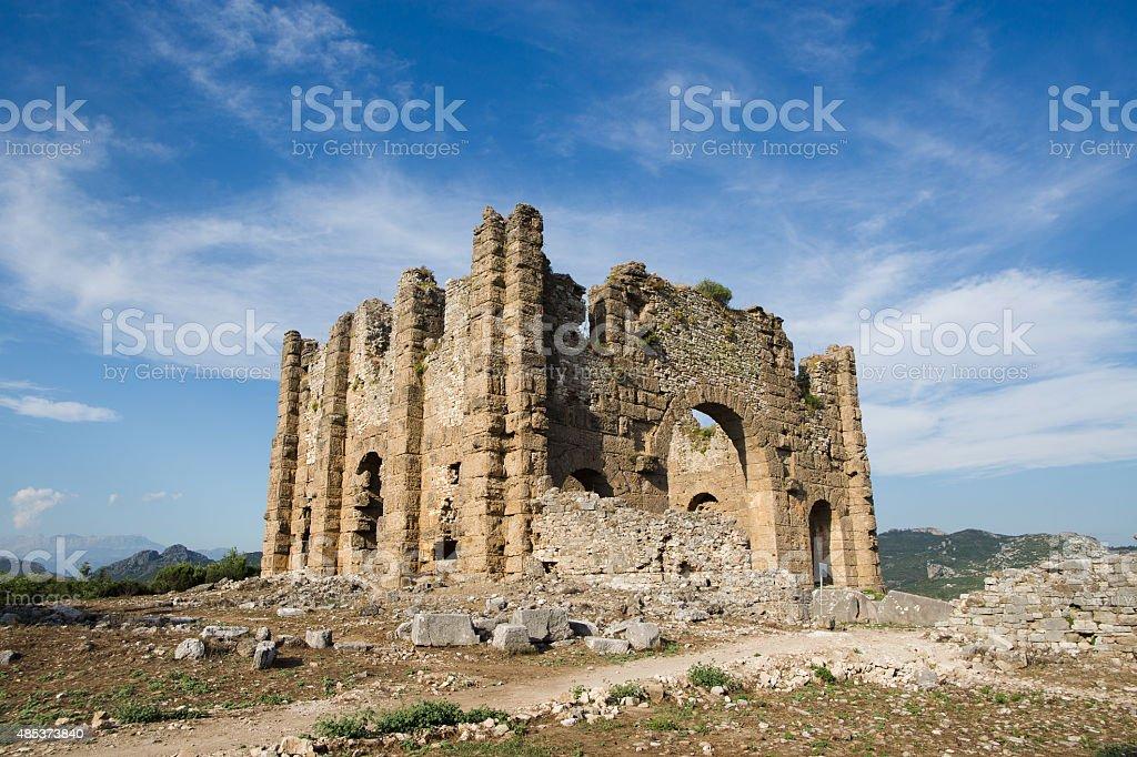 aspendos ruins stok fotoğrafı