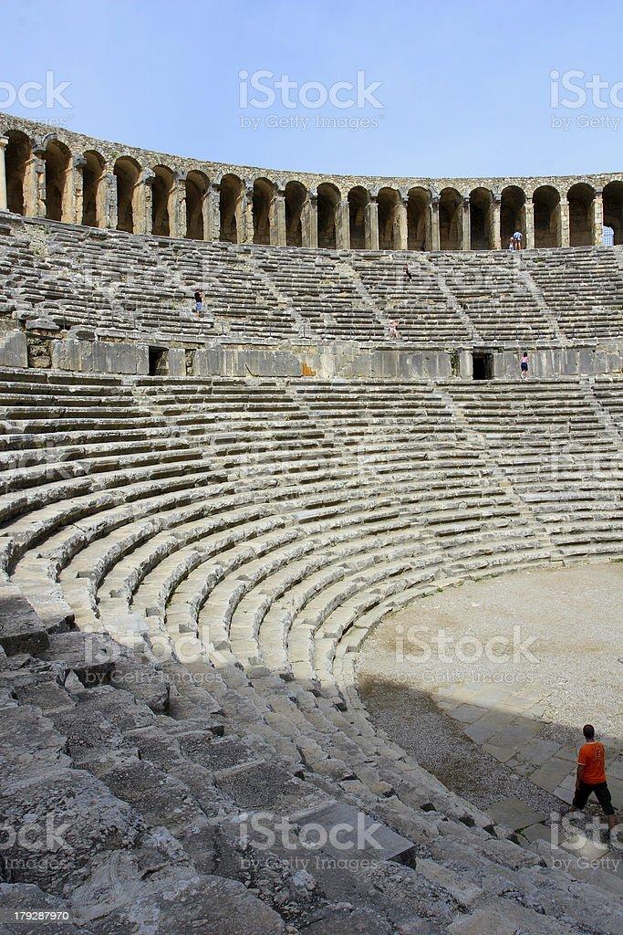aspendos theater, Antalya stok fotoğrafı