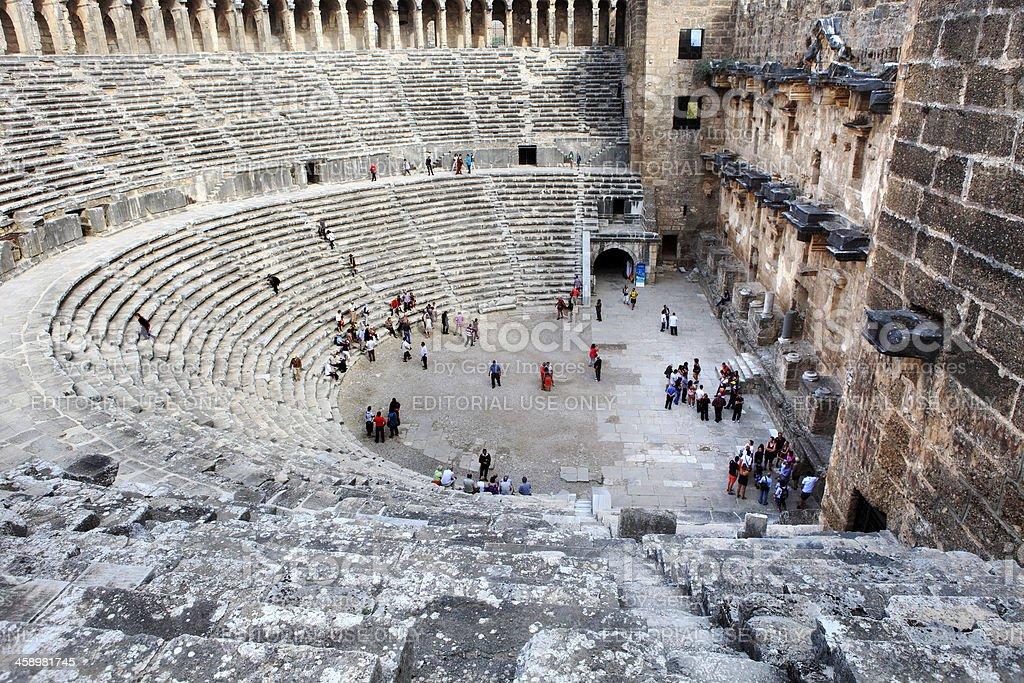 Aspendos Theater royalty-free stock photo