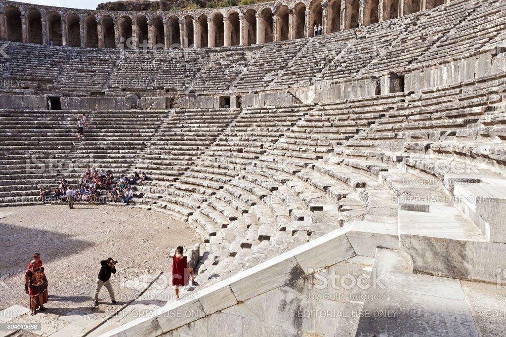 Aspendos tiyatrosu stok fotoğrafı
