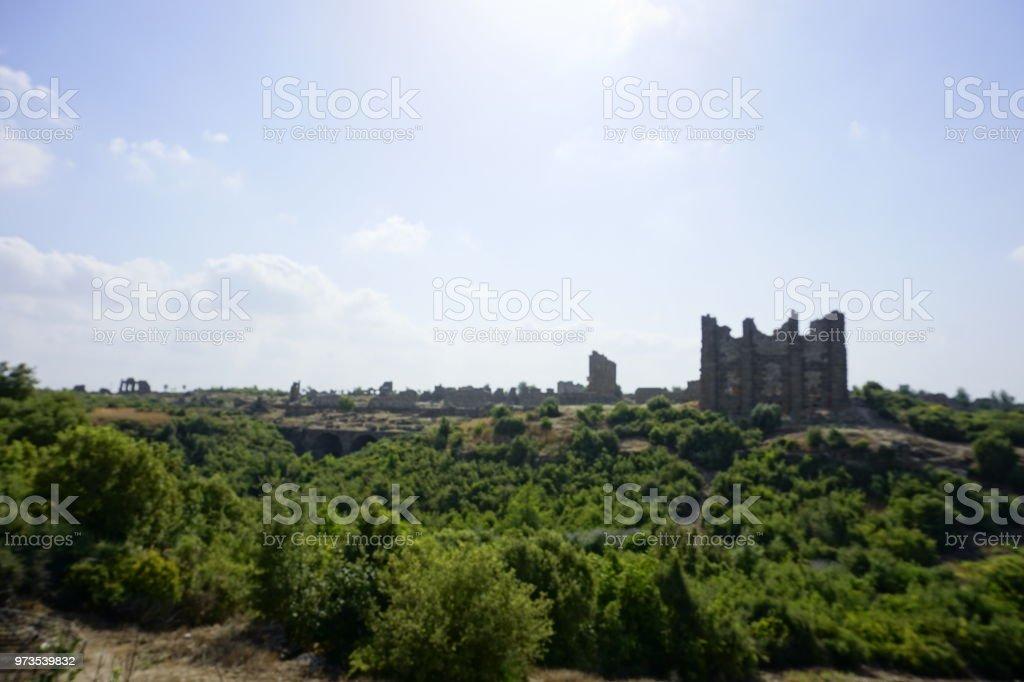 Aspendos, Türkiye stok fotoğrafı