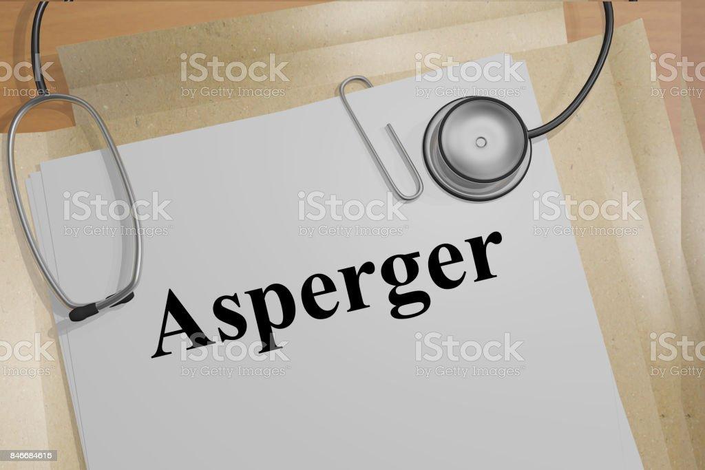 Concepto de Asperger - foto de stock