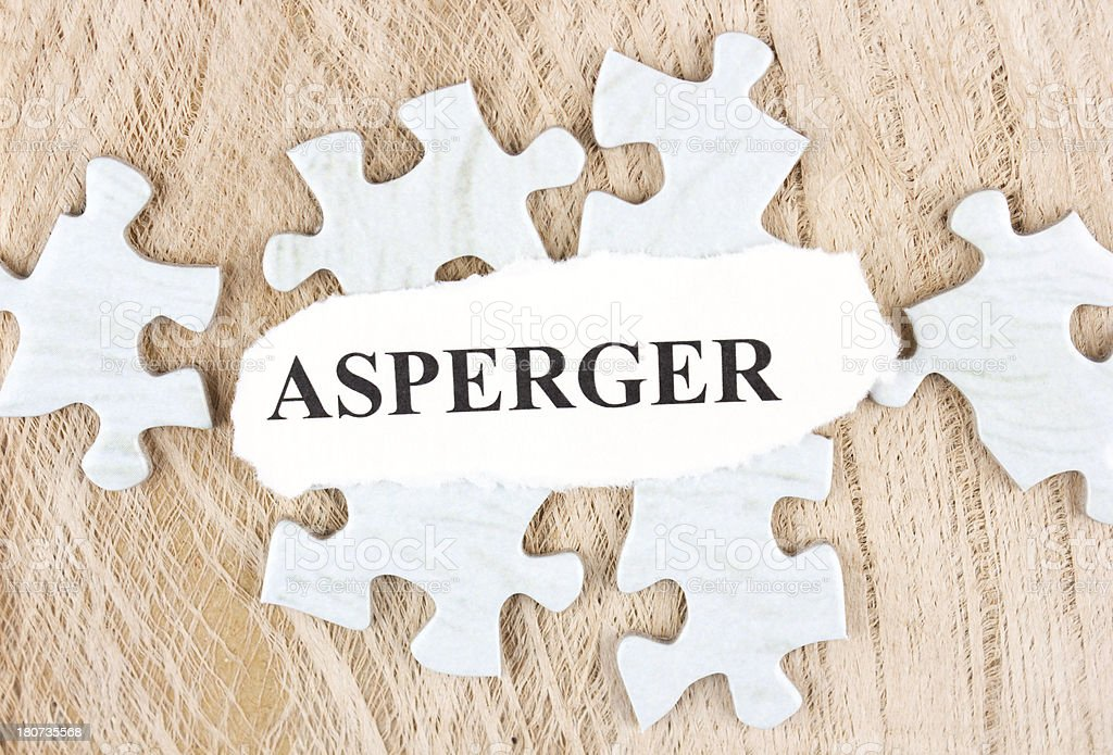 Asperger syndrome stock photo