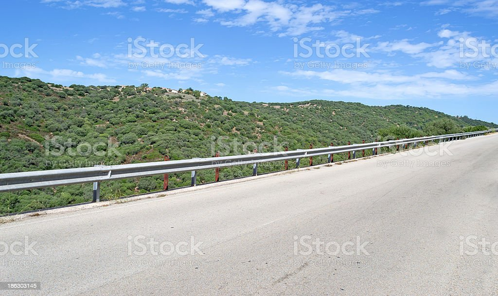 asphalt and clouds royalty-free stock photo