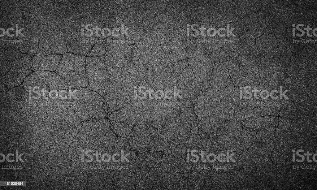 asphalt crack stock photo