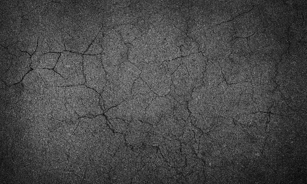 asphalt crack stock photo