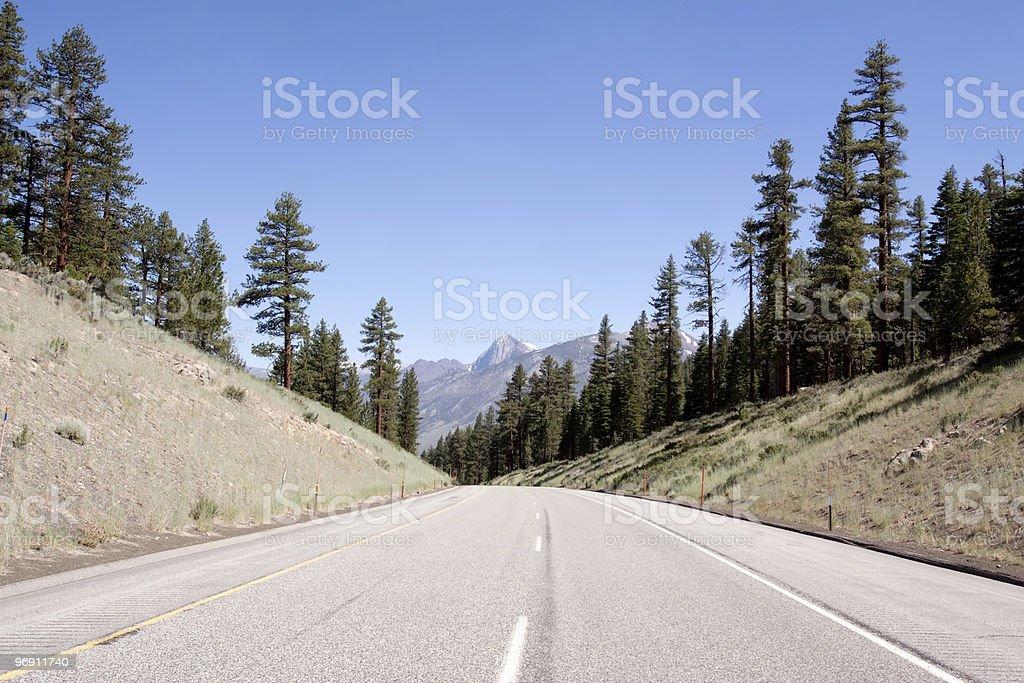 Asphalt desert road in California royalty-free stock photo
