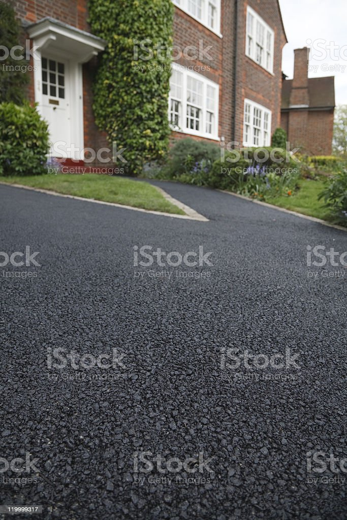 Asphalt drive stock photo