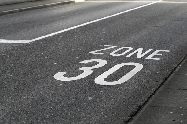 Asphalt Driveway with 30km/h Speed Limit