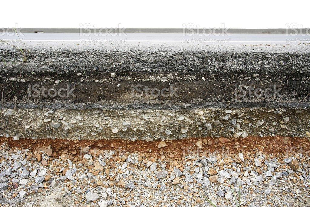 asphalt layer road stock photo