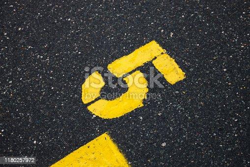 621693226istockphoto asphalt marks 1180257972