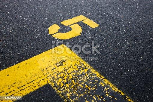621693226istockphoto asphalt marks 1180258682