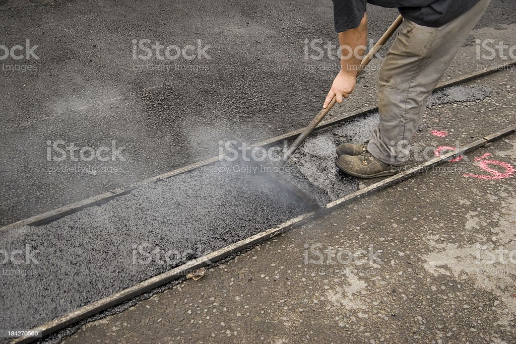 Asphalt Molding stock photo