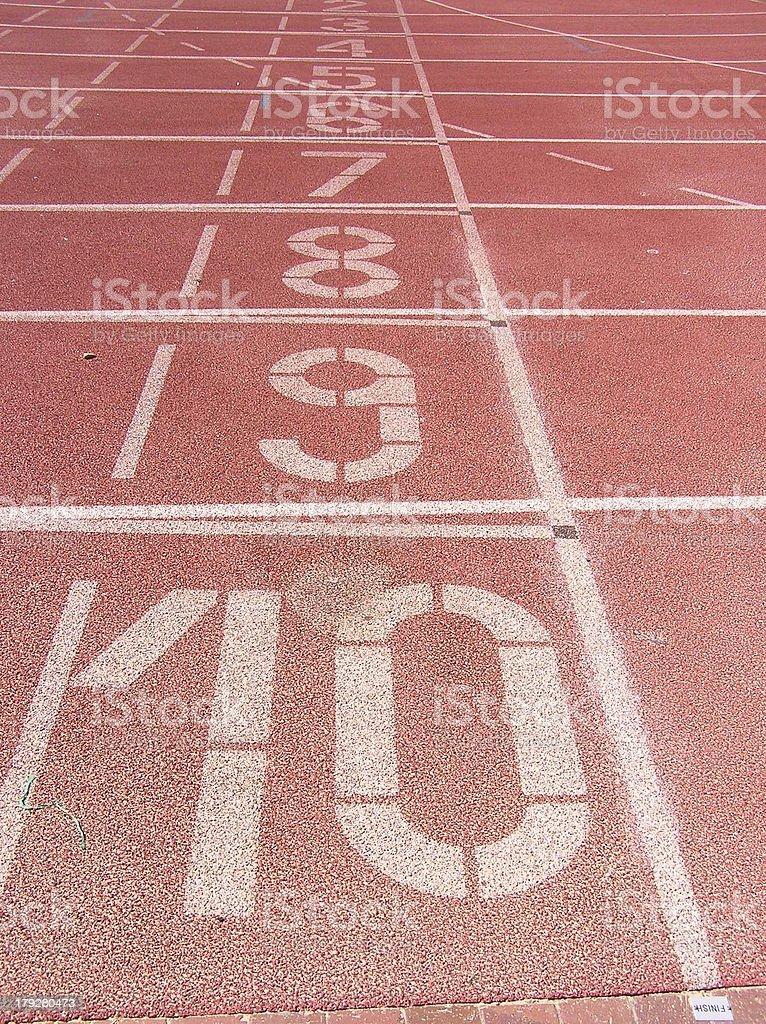 asphalt numbers stock photo