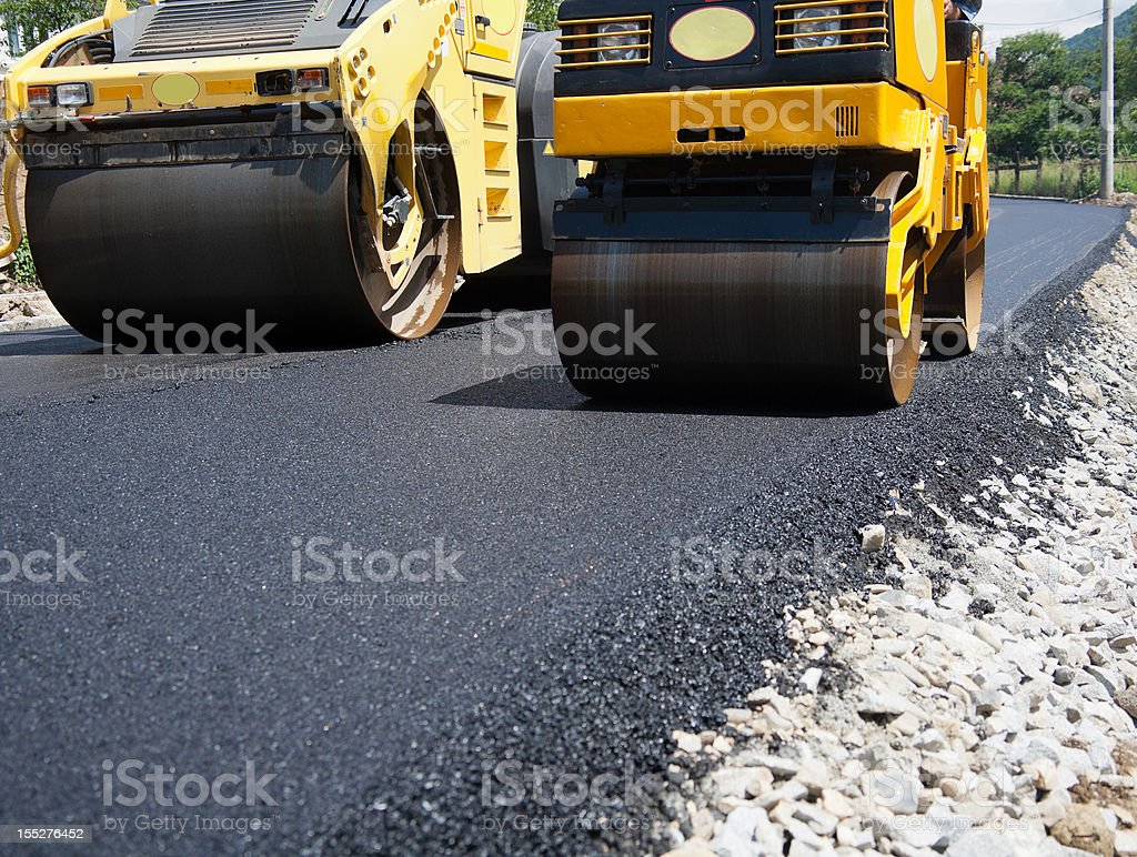 Asphalt Paving stock photo